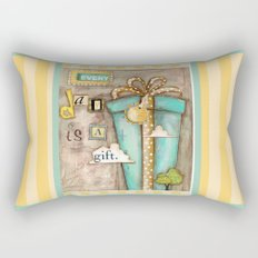 Every Day is a Gift - a collage by Diane Duda Rectangular Pillow