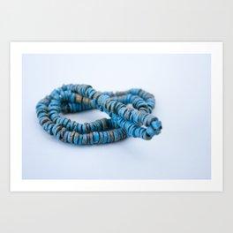 Blue art Art Print