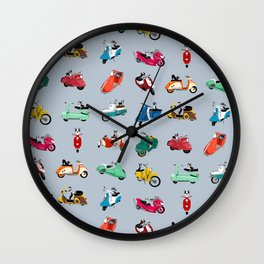 Boogie On Scooters Wall Clock