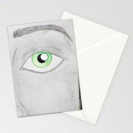 Olhos verdes Stationery Cards