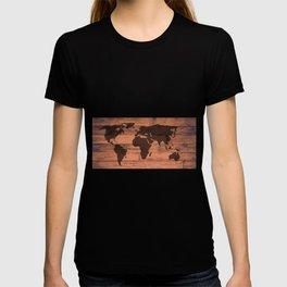 World Map Brand T-shirt