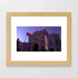 In this building educated. Framed Art Print