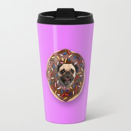 Pug Chocolate Donut Travel Mug