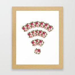 wifi flower Framed Art Print