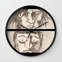 STAND OFF! Wall Clock