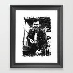 Greaser Johnny Framed Art Print