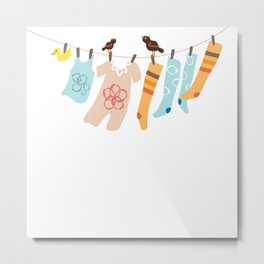Clothes Line Metal Print