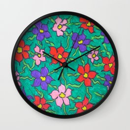 Sweet Floral Garden Wall Clock