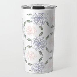Floral circle Travel Mug