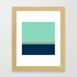 Blue Pink Line Pattern Home Decor Printable Minimal Art Framed Art Print