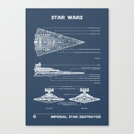 Star Destroyer Blueprint Canvas Print