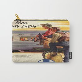 Vintage poster - Gee, that's Eatin' Carry-All Pouch