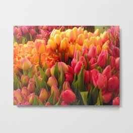 Tulips at Pike Place Market Metal Print