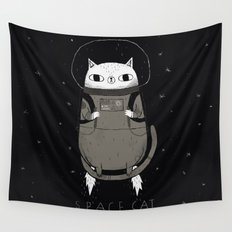 space cat Wall Tapestry