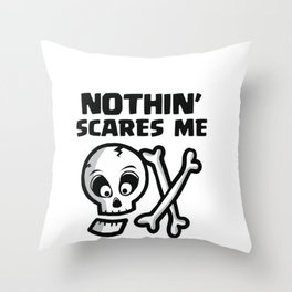 Halloween Radiology Tech Radiation Skull  Throw Pillow