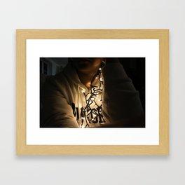 lightschristmas Framed Art Print