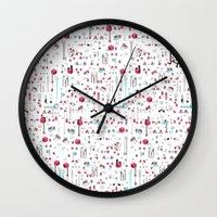 8bit Wall Clocks featuring 8bit Love by Elisa Sassi
