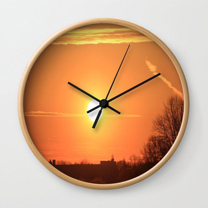 Beautiful morning breath Wall Clock