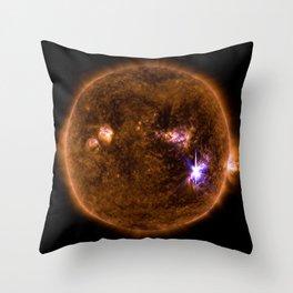 Solar Flares, Sept. 4, 2017 Throw Pillow