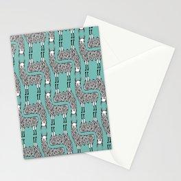 Llama Pattern Stationery Cards