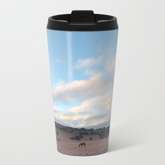 Landscape & Horses III Metal Travel Mug