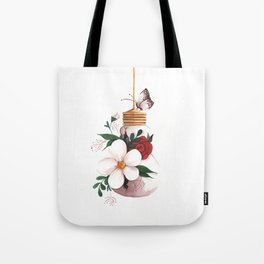 Unexpected Terrarium Moth Tote Bag