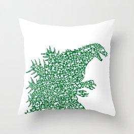 Japanese Monster Throw Pillow