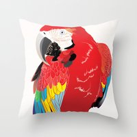 wasted rita Throw Pillows featuring Rita  by Nicholas Darby