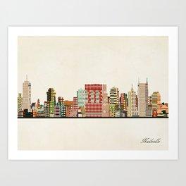 nashville tennessee skyline Art Print