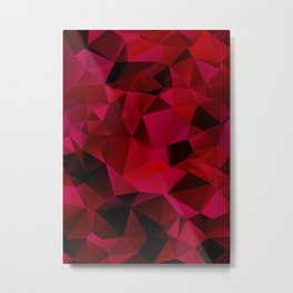 Polygon abstract red Metal Print
