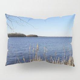 """Incredi-blue"" lake view - Lake Mendota, Madison, WI Pillow Sham"