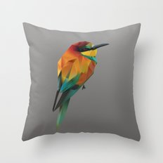 LowPoly Bird Throw Pillow