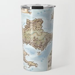 Belthennia - a map of its Independent Territories Travel Mug