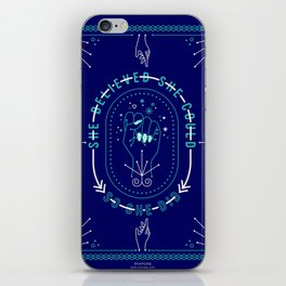 She Believed – Navy & Turquoise Palette iPhone Skin