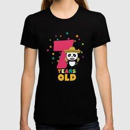 Seven Years seventh Birthday Party Panda Ddbcc T-shirt