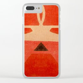 Lucha Libre Mask 1 Clear iPhone Case
