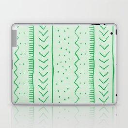 Moroccan Stripe in Green Laptop & iPad Skin