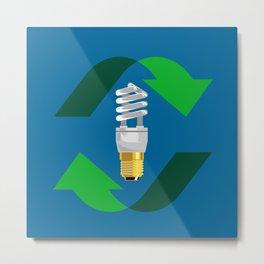 Energy Saver Bulb Metal Print