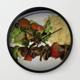Lamb Kabob Wall Clock