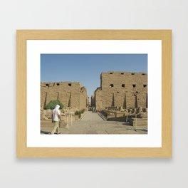 Temple of Karnak at Egypt, no. 4 Framed Art Print