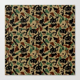 Chihuahua Camouflage Canvas Print