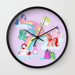 g1 my little pony early characters group Wall Clock