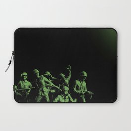 Plastic Army Man Battalion Black and Green Laptop Sleeve