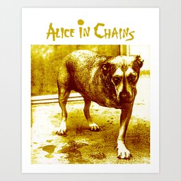 alice in chains dog tour 2020 2021 ngapril Art Print