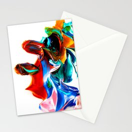 paint on a white background Stationery Cards