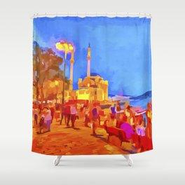 Istanbul Pop Art Shower Curtain