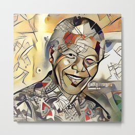 Nelson Mandela Centenary Memorial Picture (Limited Edition) Metal Print