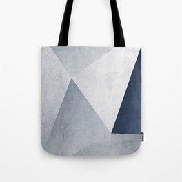 Indigo Minimal Geometry Tote Bag