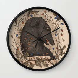 Beware, the Black Shuck Wall Clock
