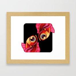 Close-up of Pisces zodiac sign Framed Art Print